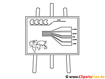 Diagramm auf Tafel Malvorlage