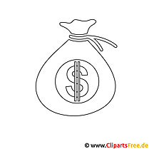 Geldbeutel Bild zum Ausmalen, Malvorlage