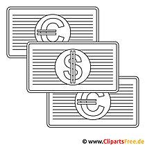 Geldscheine Bild zum Ausmalen kostenlos