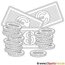 Investitionen Bild zum Ausmalen, Malvorlage