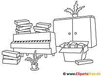 Möbel Ausmalbilder zum Ausmalen