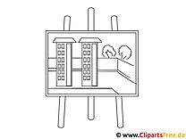 Tafel Häuser Malvorlage